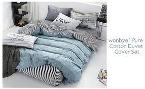 Best Bedsheet Amazon Com Wonbye Bed And Pillow Sheet Bedding Duvet Cover Set
