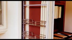 Kitchen Cabinet Spice Rack Slide by Barker Cabinets Pullout Spice Rack Hardware Youtube