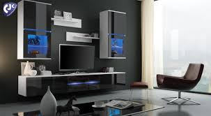 Living Room Furniture Sets Tv Living Room Furniture Set Wall 3 Section Tv Unit Cabinet Shelves
