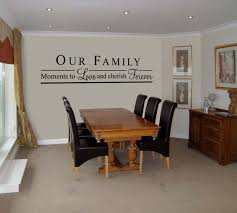 Dining Room Wall Decals Installing Dining Room Vinyl Wall Decal Quotes Robinson