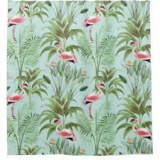 Flamingo Shower Curtains Flamingos Design Shower Curtains Zazzle Co Uk
