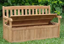High Back Garden Bench Storage Storage Box Bench Hard Wearing And Water Resistant Outdoor