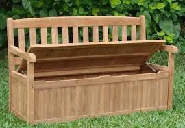 storage minimalist outdoor garden storage bench with storage box