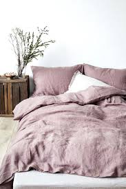 linen duvet cover with button closure in twin queen king
