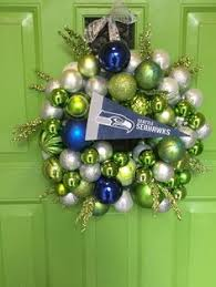 seattle seahawk green and blue ornament trees seahawk
