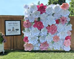 wedding backdrop design philippines flower backdrop etsy