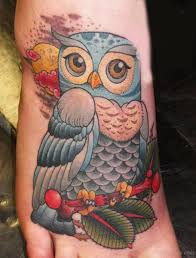 simple baby owl tattoo on foot golfian com