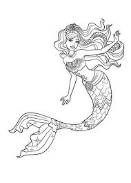 mermaid barbie mermaid tale coloring pages colouring