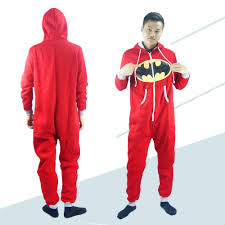 unisex pyjamas batman superman sleepwear cotton
