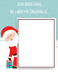 santa claus letters santa claus letter free printable for kids