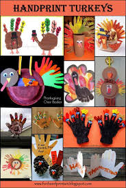 more awesome ideas for thanksgiving crafts handprint turkey