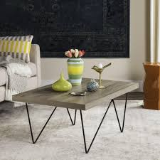 Grey Wood Coffee Table Fox4265a Coffee Tables Furniture By Safavieh