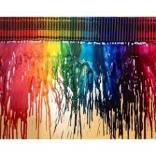 Hair Dryer Glue glue the crayons to the top of your canvas turn a dryer to