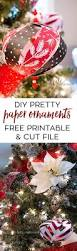 paper christmas tree ornament diy with template and cut file