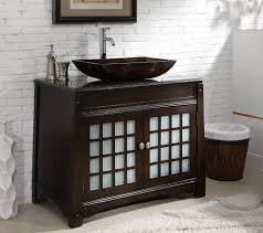 Bathroom Vanities With Bowl Sink Adelina 38 Inch Vessel Sink Bathroom Vanity Granite Counter
