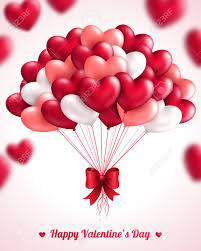 valentines ballons s day background with heart balloons vector