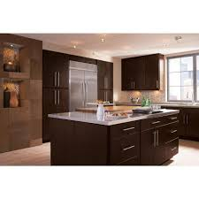 the java shaker kitchen cabinets are a black solid wood cabinet
