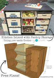kitchen island with storage build a kitchen island with pantry storage icreatived