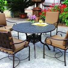 Aluminum Frame Wicker Patio Furniture - darlee santa monica 7 piece cast aluminum patio dining set darlee