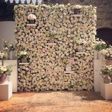 wedding backdrop flowers the 2015 wedding trend 22 flower wall backdrops
