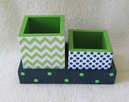 Small Desk Organizer by Chevron Pencil Cup Etsy