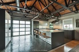 kitchen floor polished concrete kitchen floor gray island base