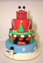 Mini Christmas Tree Cake Decorations by Night Before Christmas Cake 3 Tier Cake With Buttercream Snow And