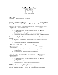 Examples Of Resume For Job by Resume For A Job Example