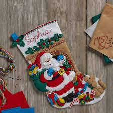 shop plaid bucilla seasonal felt kits santa s