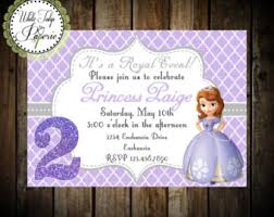 sofia invitation etsy