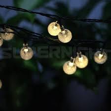 buy superngiht 6m 30leds solar outdoor led string lights cool white