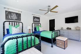 blue and green shared boys bedroom design transitional boy u0027s room
