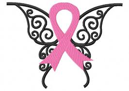 awareness ribbon butterfly embroidery design instant from