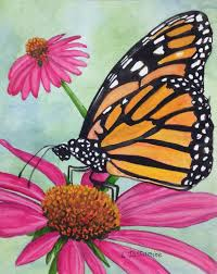 butterfly flower original butterfly painting butterfly watercolor painting