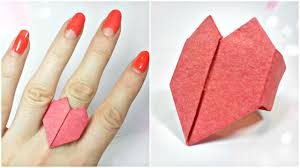 3d origami beginner tutorial 3d origami valentine love heart ring paper easy tutorial for