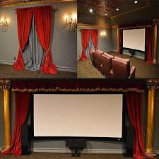 Theater Drop Curtain 806 Best Ultimate Home Theater Designs Images On Pinterest