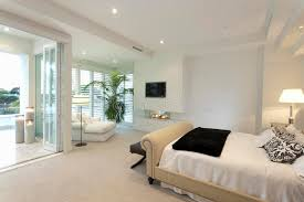 warm bedroom with a terrace stock photo image 57279482