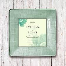 wedding invitation plate keepsake winter wedding invitation plate keepsake for couples 1st