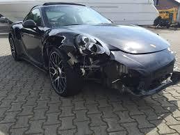 cars like porsche 911 crashed porsche 911 turbo s looks like a t rex tore its side