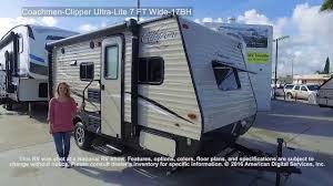 coachmen travel trailer floor plans coachmen clipper ultra lite 7 ft wide 17bh youtube