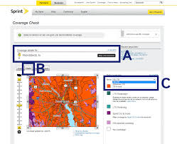 Coverage Map Sprint Check 4g Lte Coverage Mobile Beacon