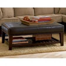 Ottoman Leather Coffee Table 10 Inspirations Of Ottoman Coffee Table With Shelf