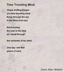 travel poems images Time traveling mind poem by dave alan walker poem hunter jpg