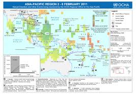 pacific region map pacific region 2 8 feb 2011 disasters and other