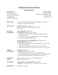 entry level resumes resume objective sles for entry level listmachinepro