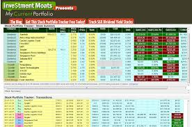 Best Free Excel Templates Our Free Investment Stock Portfolio Tracking Spreadsheet