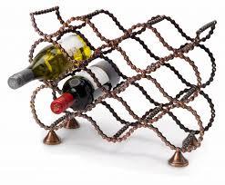 bicycle chain wine rack traidcraft online shop