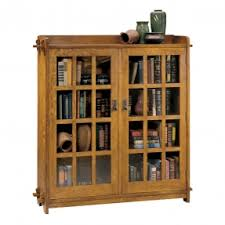 Wooden Bookcase With Glass Doors Oak Bookcases With Glass Doors Foter