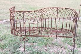 Courting Bench For Sale Wrought Iron French Courting Bench Metal Seating