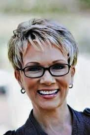 simple short hairstyles for women over 60 with glasses pictures